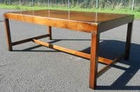 Large Military Style Mahogany Coffee Table